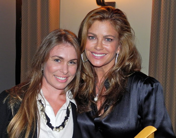 Amber Sims Hinterplattner and Kathy Ireland in Santa Barbara